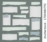 torn of white  blue note ...   Shutterstock .eps vector #1704484792