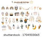 cute baby shower in... | Shutterstock .eps vector #1704503065