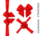 a set of red bows for... | Shutterstock .eps vector #1704515662