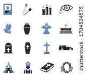 funeral icons. two tone flat... | Shutterstock .eps vector #1704524575