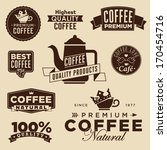 set of vintage retro coffee... | Shutterstock .eps vector #170454716