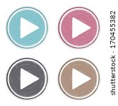 hand drawn play buttons set ... | Shutterstock .eps vector #170455382