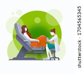a gynecologist is examined by a ... | Shutterstock .eps vector #1704565345
