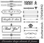 decorative design elements.... | Shutterstock .eps vector #170456942
