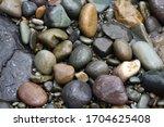 Stones On The Seaside Of Black...