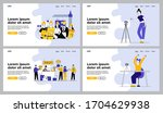 different jobs set. vlogger... | Shutterstock .eps vector #1704629938