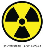Radiation Sign In Yellow And...