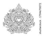 mandala art for meditation ... | Shutterstock .eps vector #1704670072