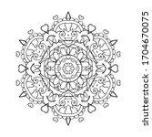 mandala art for meditation ... | Shutterstock .eps vector #1704670075