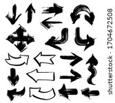 arrows in different directions... | Shutterstock .eps vector #1704672508