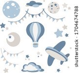 Cute Pattern In Blue Tones For ...
