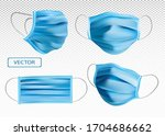 3d realistic protective medical ... | Shutterstock .eps vector #1704686662
