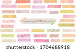 watercolor vector tape strips...   Shutterstock .eps vector #1704688918
