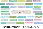 watercolor vector tape strips...   Shutterstock .eps vector #1704688972