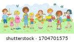 playing kids. children of...   Shutterstock .eps vector #1704701575