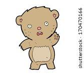cartoon unhappy teddy bear   Shutterstock . vector #170470166