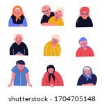 group of elderly people stand...   Shutterstock .eps vector #1704705148