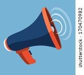 megaphone flat icon  | Shutterstock .eps vector #170470982