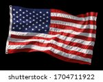 american flag waving in the... | Shutterstock . vector #1704711922
