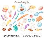 baking utensil vector... | Shutterstock .eps vector #1704735412