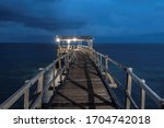 View At Wooden Pier During Blu...