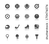 sports icons with white... | Shutterstock .eps vector #170476076