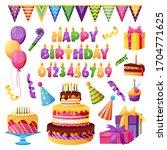 birthday celebration  holiday... | Shutterstock .eps vector #1704771625