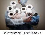 toilet paper shortage amid... | Shutterstock . vector #1704805525