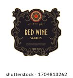 label for white and red classic ...   Shutterstock .eps vector #1704813262