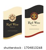 label for white and red classic ...   Shutterstock .eps vector #1704813268