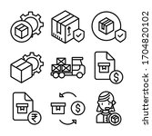 simple set of logistic delivery ...   Shutterstock .eps vector #1704820102
