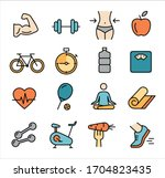 collection of icons related to... | Shutterstock .eps vector #1704823435