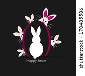 happy easter cards illustration ... | Shutterstock .eps vector #170485586