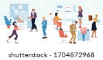 workers  employees  managers in ...   Shutterstock .eps vector #1704872968