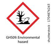 environmental hazard pictogram... | Shutterstock .eps vector #1704876265