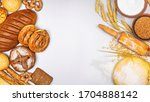 fresh bakery products and... | Shutterstock . vector #1704888142