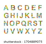 english alphabet for kids with... | Shutterstock .eps vector #1704889075