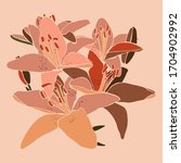 Art Collage Lily Flower In A...