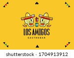 mexican cafe logotype  brand... | Shutterstock .eps vector #1704913912