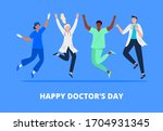 concept of happy doctor's day.... | Shutterstock .eps vector #1704931345