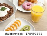 a healthy breakfast with... | Shutterstock . vector #170493896