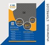 car washing flyer template... | Shutterstock .eps vector #1704982105