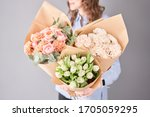 Flowers Set In Womans Hands....
