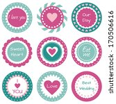 sweet cupcake toppers with... | Shutterstock . vector #170506616