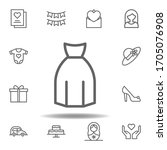 mothers day dress outline icon. ...
