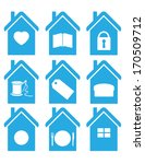 a set of house icons or symbols ... | Shutterstock .eps vector #170509712