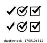 check mark icon set  check mark ... | Shutterstock .eps vector #1705106812
