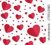 seamless hearts background on... | Shutterstock .eps vector #170512082