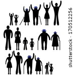 people silhouette family icon.... | Shutterstock .eps vector #170512256