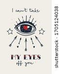 old school tattoo poster. love... | Shutterstock .eps vector #1705124038